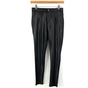 TOBI Satin-Like Fabric Zip Legging Pants H37